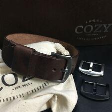 Handmade Italian Veg Tanned Vintage 405 Leather NATO Strap 18mm 20mm 22mm 24mm