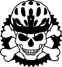 Skull Bike Helmet Sticker/Decal!!! Mountain bike/BMX etc.