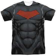 Batman Red Hood Costume DC Comics Allover Sublimation Licensed Adult T Shirt