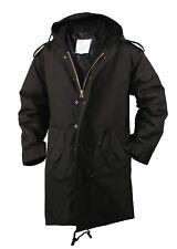 Black Military Jacket M-51 Fishtail Parka Winter Coat Rothco 9464