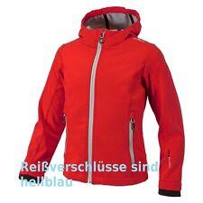 Campagnolo Kinder Softshell-Jacke mit Kapuze Reißverschlüsse sind hellblau guck