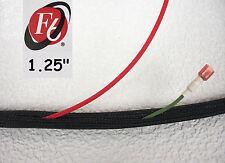 "1.25"" Flexo F6 Braided Cable Sleeving Wrap, Split Loom, Techflex F6N1.25BK"