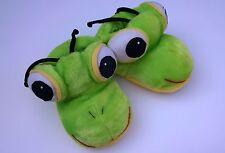 Damen Mädchen Tier-Hausschuhe Frosch Winter Schuhe plüsch grün Grashüpfer Ameise