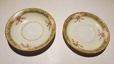 Vintage Empress Japan Pattern EMP133 Fine China Saucers or Berry Bowls 1930's