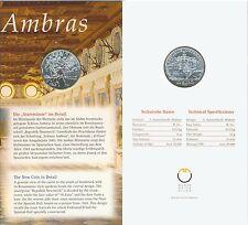 Österreich 10 Euro 2002 Schloss Ambras hgh offizieller Klapp-Folder (M00237)