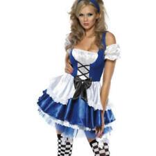 Alice Wonderland Fever Costume Ladies Movie Fairytale Womens Fancy Dress Outfit