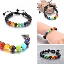 7 Chakra Bracelet Oil Diffuser Lava Yoga Energy Bracelet adjustable size-34