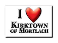 SOUVENIR UK - SCOTLAND FRIDGE MAGNET I LOVE KIRKTOWN OF MORTLACH (MORAY)