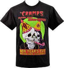 Da Uomo Nero T-shirt i crampi Nye GIG Flyer psychobilly Garage Teschio Scheletro S-5XL