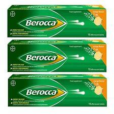Berocca naranja sabor energía vitaminas 15 comprimidos efervescentes 2,3 o 6 paquetes