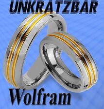 2 WOLFRAM RINGE & GRAVUR GRATIS TRAURINGE ,  IP GOLD Platierung Titan Look  JW16