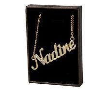 Chapado En Oro Con Collar de nombre N-O Regalos Personalizados-Nadine | Nele | Nina | Orla
