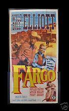 FARGO *3SH ORIG MOVIE POSTER WESTERN COWBOY ACTION 1952