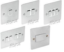 Cromo Pulido Blk/wht Inserte 1, 2, 3, 4g interruptor Ventilador Aislador & intermedios