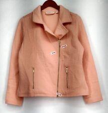Isaac Mizrahi Live! Basic Jacket S Quilted Knit Zipper Closure Orange Womens