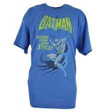 Batman Fighting Crimen con Estilo Dc Comics Libro Dibujos Azul Camiseta