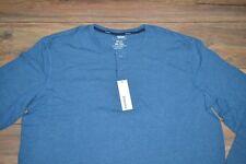 Sonoma Flexwear Stretch Fabric Breathable Soft Touch Blue Henley Big & Tall