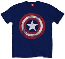 Marvel Captain America 'Shield Sdrucito' T-Shirt - Nuovo e Originale