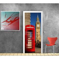 Carta dipinto porta Londra cabina telefonica 834