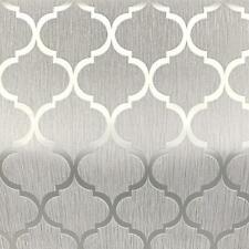 Hot Pink Grey Silver Glitter Trellis Metallic Textured Vinyl Wallpaper 20-732