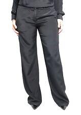 ASPESI pantalones de mujer largo negro mod H113 B753 100% seda
