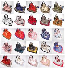 Fashion Scarf Women Print Silk Satin Large Square Shawl Stole Hijab Wrap 35