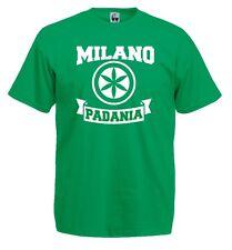 T-Shirt Supporters J506 Milano Padania Lombardia Flag Lega Nord Stemma