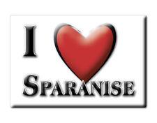 CALAMITA CAMPANIA ITALIA FRIDGE MAGNET MAGNETE SOUVENIR I LOVE SPARANISE (CE)--
