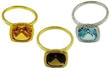 18k Yellow Gold Solitare Ring Smokey Quartz