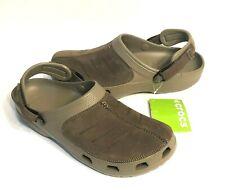 Crocs Yukon Mesa Clogs Mens size 12 Khaki/Espresso - LEATHER - NEW WITH TAGS