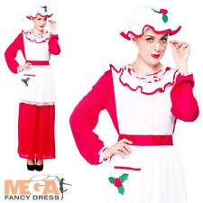 Signora Babbo Natale Vestito Donna Natale Fancy Dress Festa Da Donna Costume Outfit