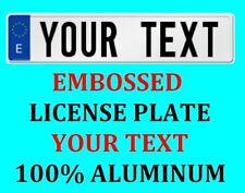 Spain Spanish European Euro License Plate Number Plate Custom Text Customized