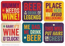 Brainbox Candy Drinks coasters beer mat alcohol booze funny rude joke  gift