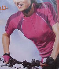 Damen Fahrradshirt Trikot  kurzarm pink     M   L  neu