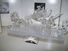 SWAROVSKI JAHRESAUSGABE 96/98 FABELHAFTE TIERWELT EINHORN+DRACHE+PEGASUS+SCHILD