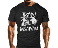 Mens Gym Workout MMA T-Shirt Bodybuilding Loose Fit T Shirt Top Train Insaiyan