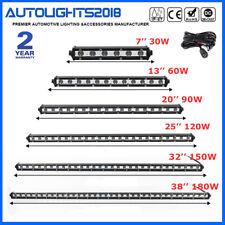 SLIM 7/13/20/25/32/38inch Single Row LED Light Bar Flood Spot Beam Offroad Truck