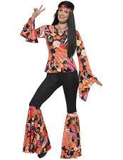 Déguisement hippie noir et multicolore femme Cod.234465