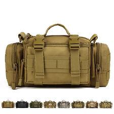 Men's 1000D Nylon Tactical Molle Fanny Waist Pack Shoulder Messenger Kettle Bags