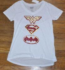 DC Comics Justice League WONDER WOMAN SUPERMAN BATMAN T-Shirt Licensed Tee
