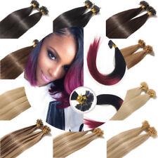 8A Thick 16-26Inch U Nail Tip Fusion Keratin Remy Human Hair Extensions 0.5/1.0g