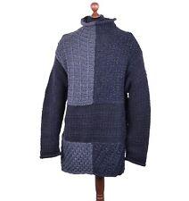 Dolce & Gabbana oversize langer Ritter-estilo suéter negro gris Sweater 04116