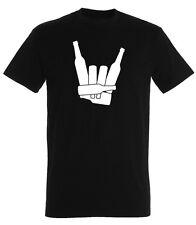 T-Shirt bedruckt Motiv Spruch Bier Alkohol Fun Saufen Rock`´n Roll Heavy Metal