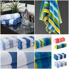 Luxury Soft Beach Towel Pool Towel 100% Cotton Velour Striped Chlorine Resistant