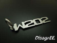 """Schlüsselanhänger """"W202"""" C Klasse 200 230 C36 43 55 AMG - Edelstahl GEBÜRSTET!"""