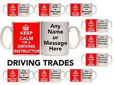 KEEP CALM I'M A DRIVER TRADE PERSONALISED MUG & COASTER (T6) 11oz - 15oz GIFT