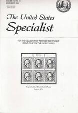THE UNITED STATES SPECIALIST - NOVEMBER 2003, VOLUME 74, NO. 11