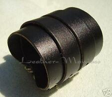 Bracciale in pelle nera Bracciale in Pelle Bracelet Leather