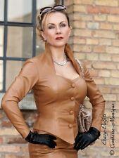 Lederjacke Leder Jacke Camel Business-Style Größe 32 - 58 XS - XXXL
