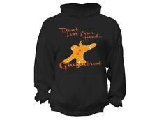 Gingerbread Don't Lose Head - UGLY CHRISTMAS Sweater Santa Men Women HOODIE BLK